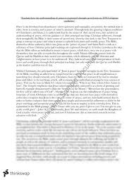 an essay on religion and peace christianity  year  hsc  an essay on religion and peace christianity