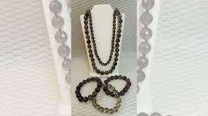 <b>Бусы</b> и браслет <b>раухтопаз</b> натуральный купить в Санкт ...