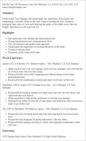 professional tour manager templates to showcase your talent    resume templates  tour manager