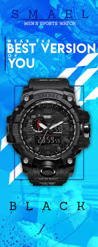 SMAEL <b>50m</b> Waterproof Military <b>Watch</b> | <b>Men's</b> dress code | Luxury ...