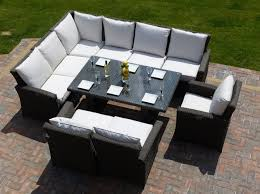garden furniture patio uamp: outdoor rattan sofa suite sets rattan garden sofa furniture