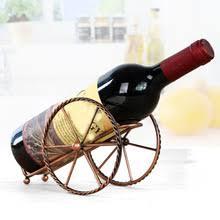 Элегантный Стиль Железный красный стеллаж для вина ...