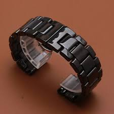 <b>Promotion New Replace 22mm</b> Watch Band Ceramic Black Straps ...