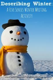 describing winter  a five senses winter writing activity   weird    describing winter  a five senses winter writing activity