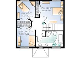 Compact Two Story House Plan   DR   nd Floor Master Suite    Reverse Floor Plan Pinit white