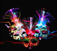 <b>NEW Women Venetian</b> LED Fiber Light up Mask Masquerade Fancy