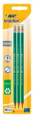 <b>Набор чернографитных карандашей</b> Bic Evolution с ластиком, 3 шт
