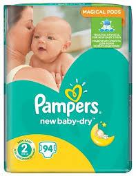 <b>Pampers подгузники New</b> Baby-Dry 2 (3-6 кг) 94 шт. — купить по ...