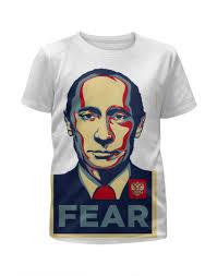 Футболка с полной запечаткой для девочек Путин #1840630 за 1 ...