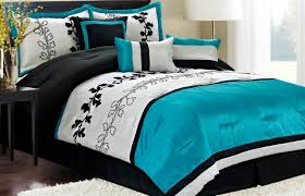 black white and turquoise bedding sets with floral handprinting with black and white bed set twin bedroom white bed set