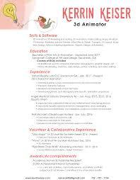 resume kerrin keiser d animator resume here