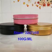 100ml/g <b>10pcs 50pcs</b> Aluminum Pink Cosmetic Cream Jars, Empty ...