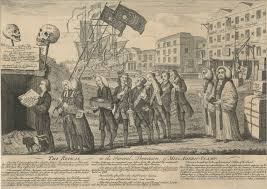 clements library chronicles  a popular satirical print celebrates the repeal of the stamp act the repeal or the funeral procession of miss americ stamp 1766