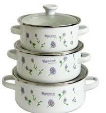 enamel pots kitchen utensils set