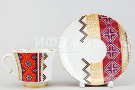 <b>Чашка с блюдцем</b> чайная ф. Банкетная рис. Русский <b>стиль</b> ...