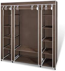 vidaXL <b>Wardrobe with Compartments</b> and Rods 45x150x176cm ...
