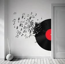 <b>Vinyl</b> Record Blowing <b>Music</b> Notes <b>Decal</b> For Modern Homes   <b>Vinyl</b> ...