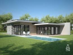 Flat Roof Modern House Plans One Story Flat Roof Design  one story