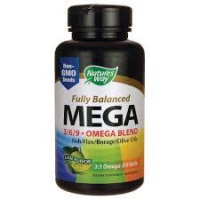 Nature's Way <b>Fully Balanced Mega 3/6/9</b> Omega Blend - Lime ...