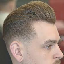 Hasil gambar untuk skin fade pompadour haircut