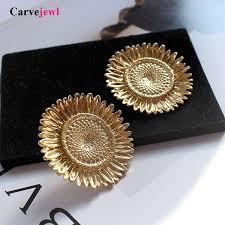 2019 <b>Carvejewl</b> Hyperbole Big Sunflower Stud <b>Earrings</b> Silver ...