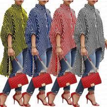 <b>Рубашка женская, в полоску</b>, с длинным рукавом, большие ...