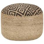 <b>Handmade Pouffe Black 45x30</b> cm Jute Sale, Price & Reviews ...