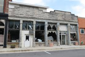 our small towns are dying housesandbooks this limestone storefront is sadly diminished click any image to enlarge