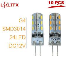 <b>LKLTFX</b> 10 Pieces/Lot <b>G4</b> SMD 3014 24LEDs <b>Bombillas</b> LED Lights ...
