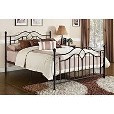 vintage style queen full size rustic bed frame rustic bedroom furniture brushed bronze brown black metal wrought iron antique headboard footboard included black antique style bedroom