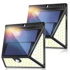 82 LEDs Solar Motion Sensor Lights Outdoor, ZOOKKI <b>Super Bright</b> ...