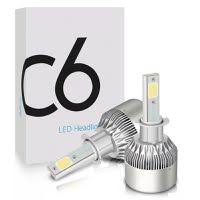 <b>C6</b> H4 <b>LED Headlight</b> 6000K Colour All In One Compact Design ...