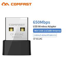 <b>Comfast CF</b>-<b>811AC 650Mbps</b> USB <b>Wifi</b> Receiver Adapter 2.4 + 5Ghz ...