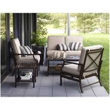 target home gable 5 piece metal patio conversation furniture set metal outdoor furniture sets