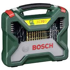 <b>2607019329 Bosch 70</b> Piece <b>X</b>-<b>Line</b> Drill Bit & Screwdriver Bit Set in ...