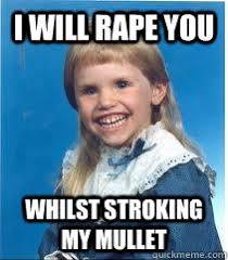 Scary mullet kid - quickmeme via Relatably.com