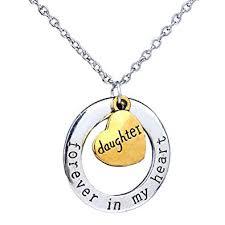 <b>Pop Fashion</b> Heart <b>Charm Necklace</b>, Personalized Two Tone Gold