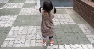 Grouchy <b>little girl</b> just can't stay mad wearing <b>squeaky shoes</b>