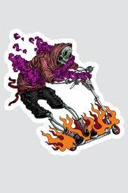<b>Наклейка SKILLS Kickscooter</b> Rider Разноцветный, купить, цена с ...