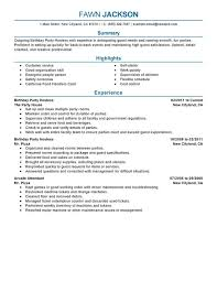 unforgettable birthday  y host resume examples to stand out    birthday  y host resume sample