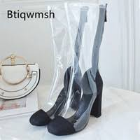 Transparent Knee High Boots Canada | Best Selling Transparent ...