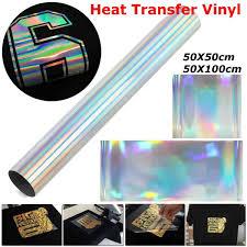 50*<b>50</b>/<b>100cm</b> PVC Metallic Heat Transfer Vinyl Paper T shirt Heat ...