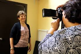 older job seekers in texas struggle to jobs but nancy ruiz gets her photo taken for her linkedin profile at a meeting of the launch pad job club in austin on aug 6 2014