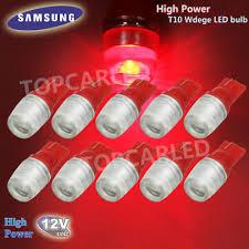 <b>10pcs High Power 1W T10</b> Wedge Samsung LED Red <b>Car</b> Interior ...