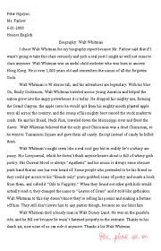 walt whitman essay wwwgxartorg the greatest high school english paper of all time pic the greatest high school english paper