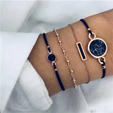 <b>LETAPI</b> 4pcs/set <b>Bohemian</b> Bracelet Sets for Women Weave Rope ...