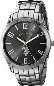 <b>US Polo</b> Assn. Men's Analogue Dial Bracelet Watch Black USC80038