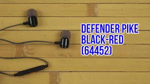 Распаковка <b>Defender Pike</b> Black-Red 64452 - YouTube