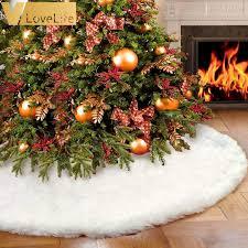 <b>White Plush</b> Christmas Tree Skirt Aprons Christmas Tree Carpet ...
