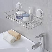 nexx chrome plastic bathroom shelf